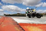 bmw rninet racer on track