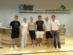 1 Od prawej wlasciciel Centrum Rehabilitacji Piotr Habdas