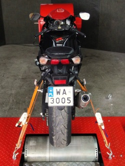 Suzuki GSX-R 600 L1 hamownia motocyklowa