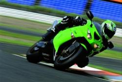 Kawasaki ZX10R zakret na torze