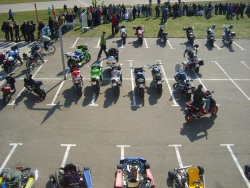 Parking moto na torze
