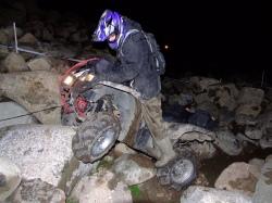 quad wyciaganie kamienie przeprawa