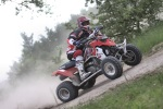 Polaris Outlaw 450 ostry zakret w lewo