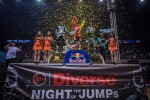 podium Rob Adelberg Maikel Melero Remi Bizouard Diverse Night Of The Jumps Ergo Arena 2015