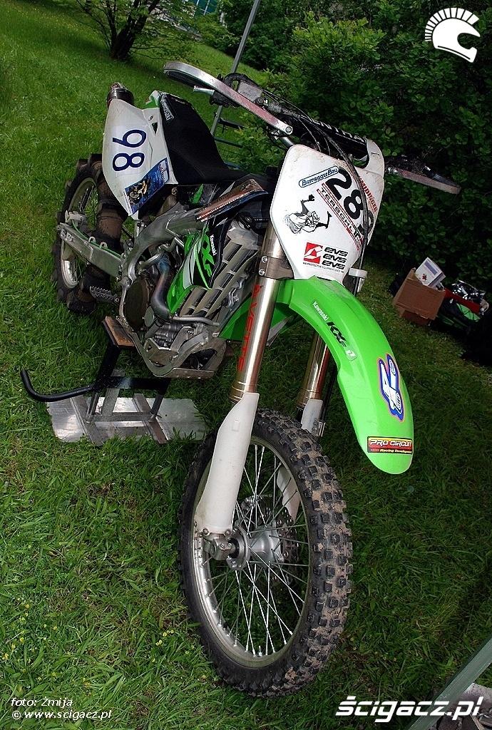 Motocykl Kawasaki hillclimbing