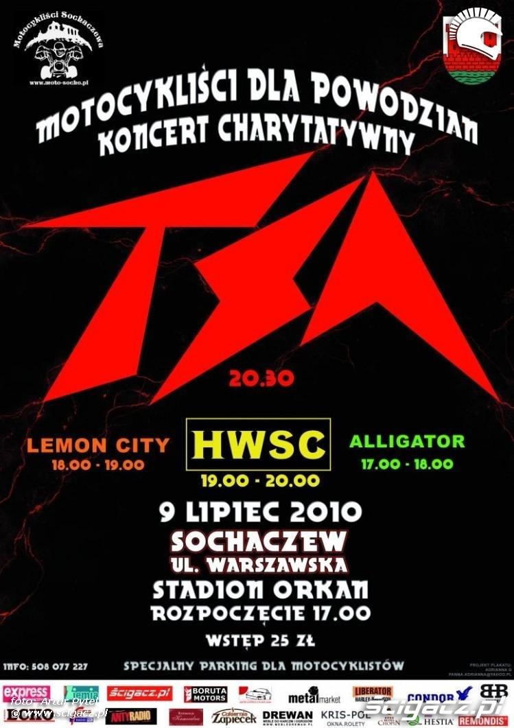 Zdjęcia Plakat Koncert Tsa Sochaczew Tsa I Motocyklisci