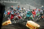 Start wyscigu 24 MX Supercross Sztokcholm
