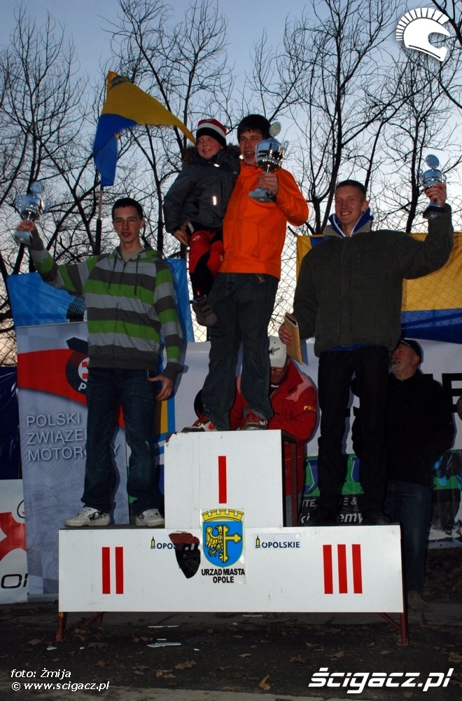 Mistrzostwa polski enduro w opolu 2008 na podium