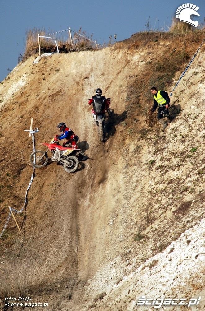 wypadek podjazd pod gore Opole enduro