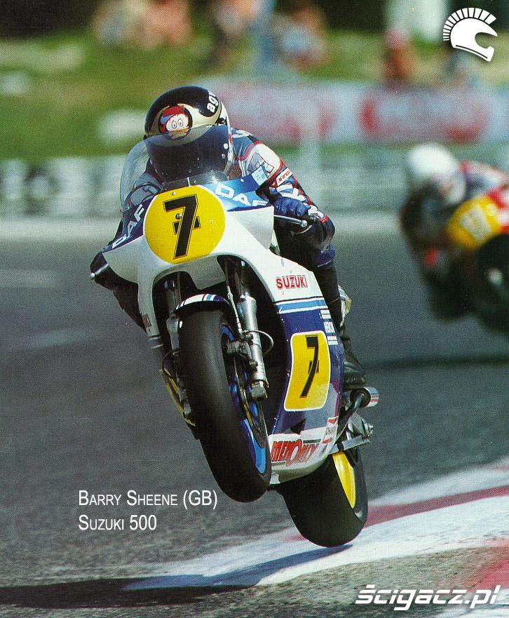 17) Barry Sheene (GB) czolowy kierowca Suzuki kl500 w IIp