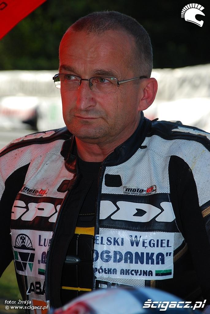 Janusz Oskaldowicz przed startem