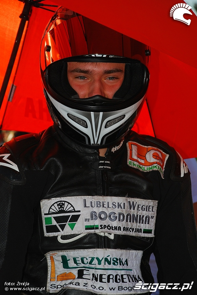 Marcin Kaldowski przed startem