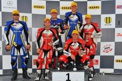 Podium Suzuki GSX-R Cup race 3