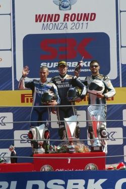 podium superbike wyscig 2 monza 2011