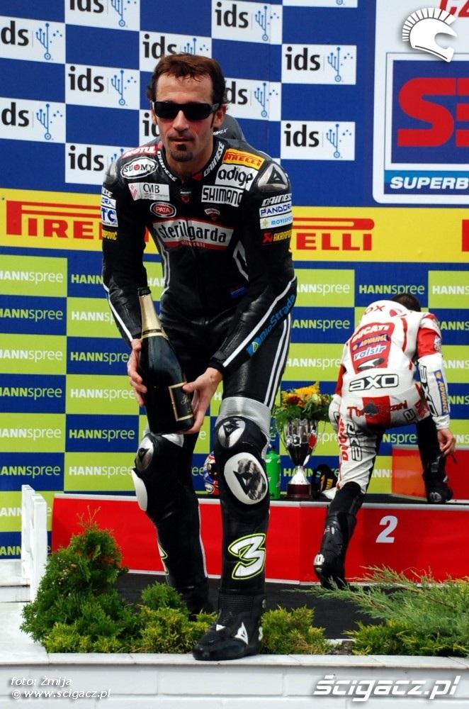 Max Biaggi World SBK podium