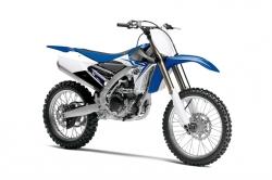 2014 Yamaha YZ450F bialo niebieska
