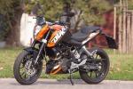 lewy przod KTM Duke 200 scigacz pl