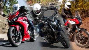 Honda CB 500F CBR 500R i CB 500X trio na prawo jazdy A2