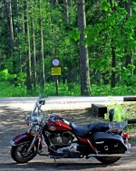 Harley Davidson Road King parking