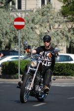 Plac Trzech Krzyzy motocyklem