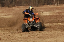KTM XC 525 quad sportowy Marcin Grochowski