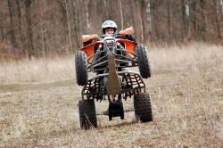 XC 525 KTM quad podwozie zawieszenie wheelie