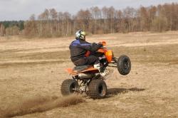 quad wheelie KTM XC525