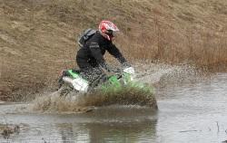 Kawasaki KLX przeszkoda wodna