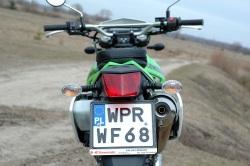 Kawasaki KLX tablica rejestracyjna