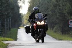 na lesiej szosie Suzuki DL650 test