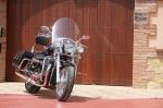 Triumph Thunderbird na tle bramy