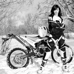 Yamaha WR250R na sniegu