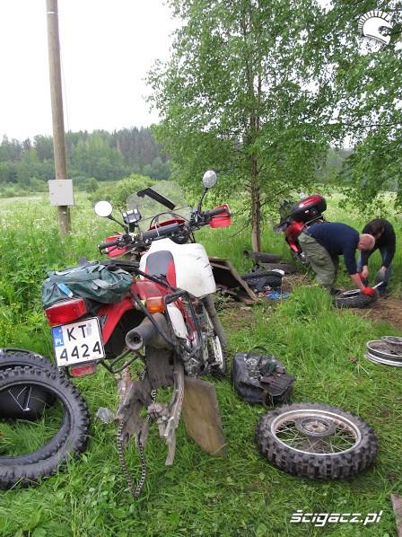 rozebrany motocykl