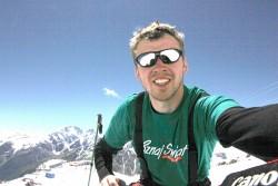 Gdzies na 4 tys m n p m podczas podejscia na Elbrus