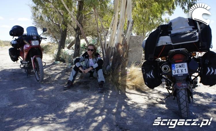 odpoczynek na trasie wyprawa motocyklowa do Ameryki Poludniowej