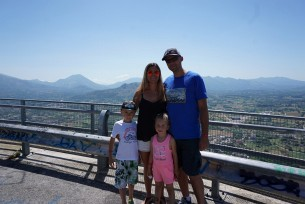 Z Rodzinka w drodze na Monte Casino