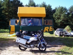 Motocyklem dookola swiata-POL-Lubieszyn