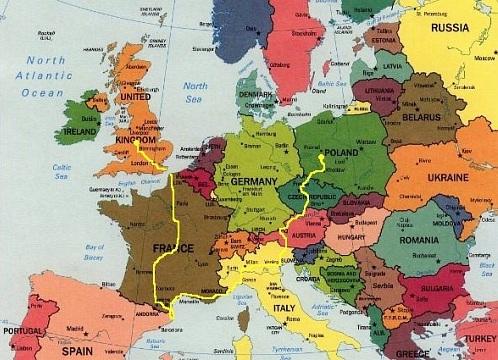 Tour The Europe 4600 Km W 18 Dni