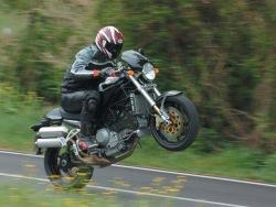 Ducati Monster S4R wheelie