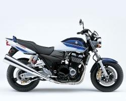 bialo niebieski Suzuki GSX 1400