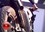 Kawasaki GPZ500 zmieniony wydech