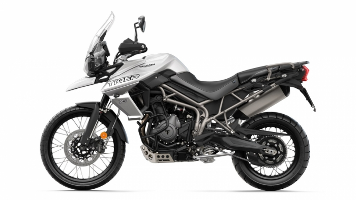 Tiger 800 XCx LHS Crystal White