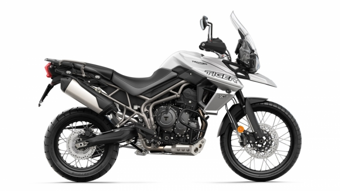 Tiger 800 XCx RHS Crystal White