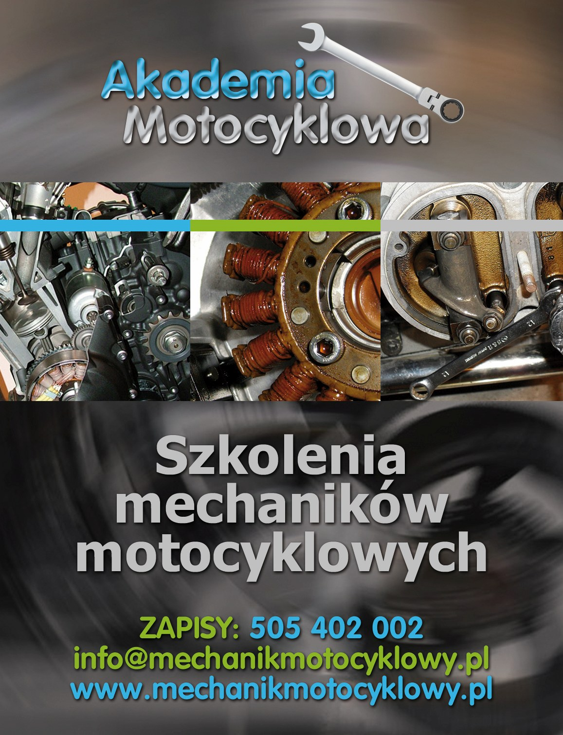 akademia motocyklowa plakat